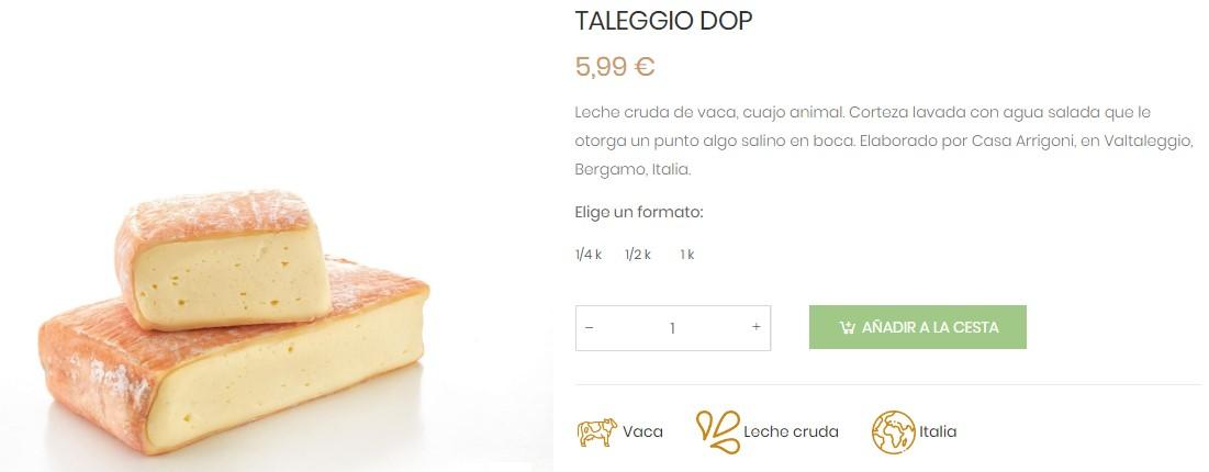 Taleggio queso italiano